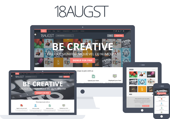 18augst Flat and Responsive Portfolio Gallery