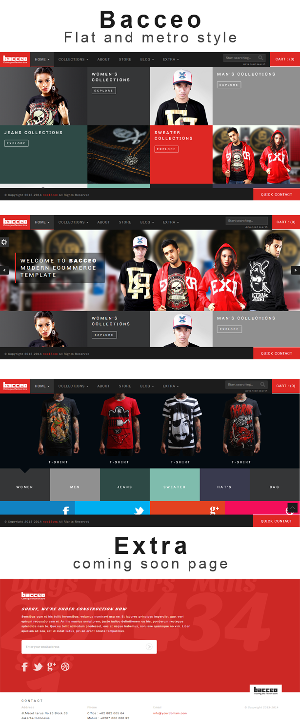 Bacceo metro style eCommerce template