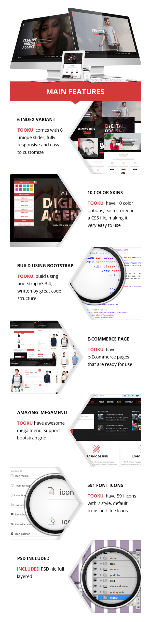 Tooku - Crative HTML Template
