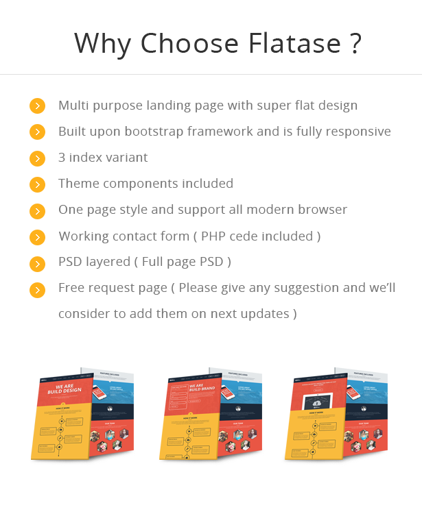 Flates flat and responsive landing page