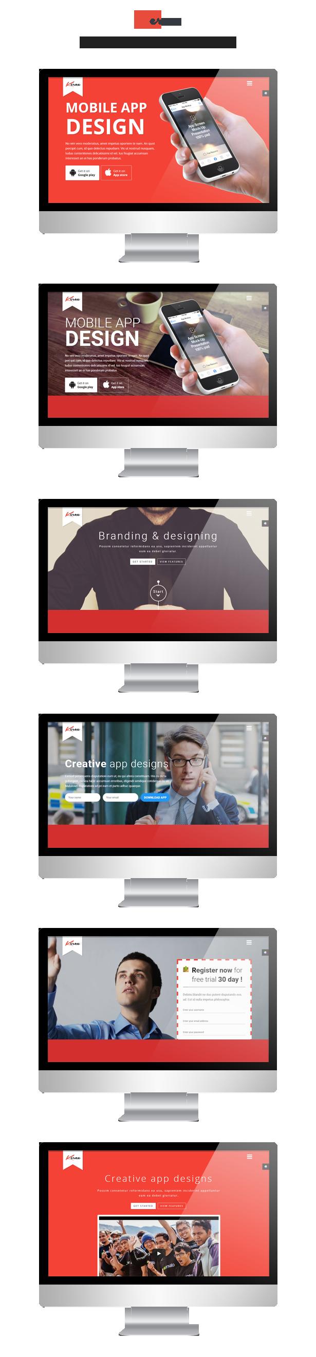 Kerox responsive app landing page